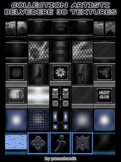 COLLECTION ARTISTI BELVEDERE 30 TEXTURES FOR IMVU CREATOR ROOMS  (will be sold to ten creators)