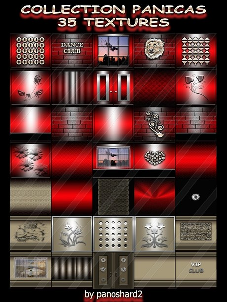 COLLECTION PANICAS 35 TEXTURES FOR IMVU CREATOR ROOMS  ( will be sold to ten creator)