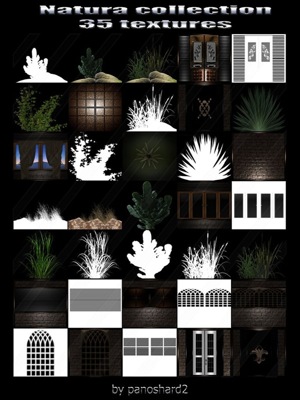 Natura collection 35 textures for imvu rooms