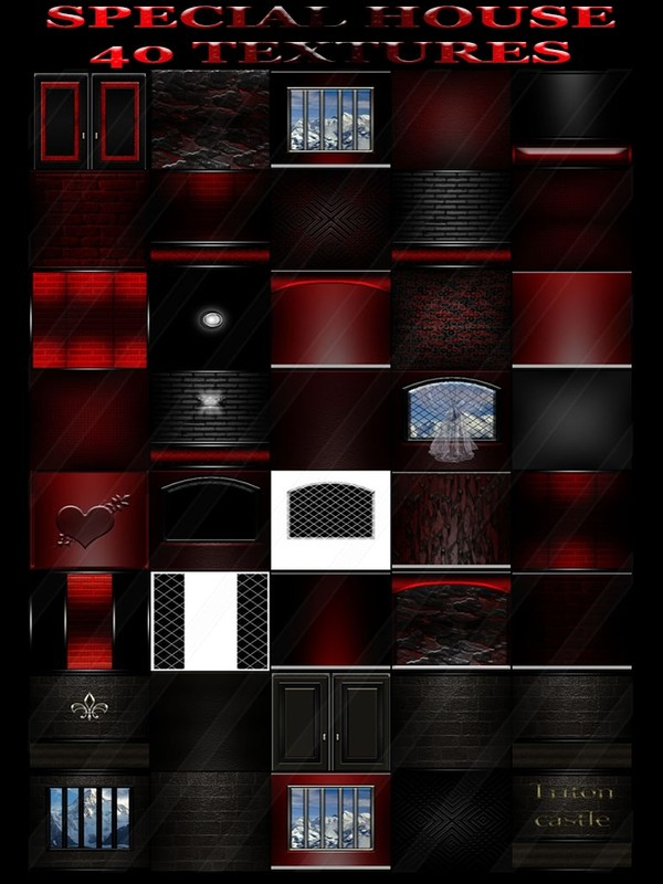 SPECIAL HOUSE 40 TEXTURES FOR IMVU ROOMS