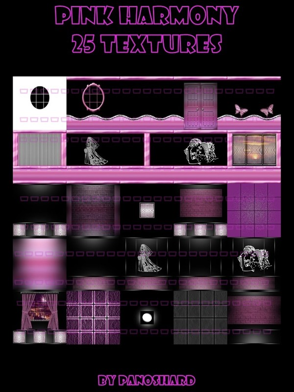 Pink harmony 25 textures room imvu