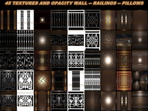 45 textures Wall - Railings - Pillows