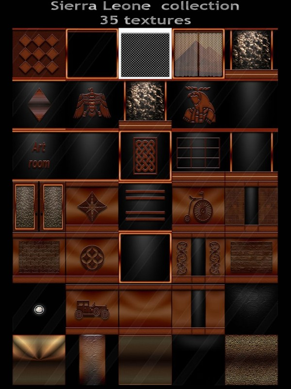 Sierra Leone collection 35 textures for imvu rooms