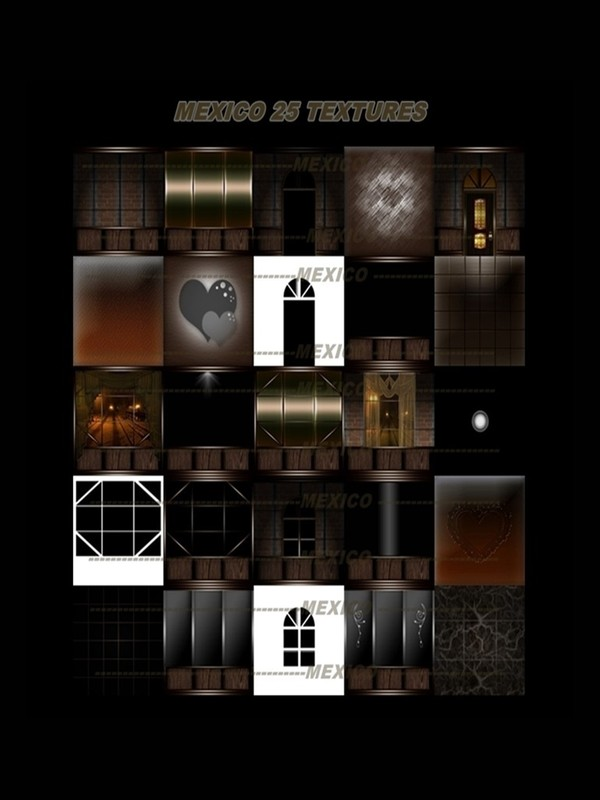 MEXICO 25 TEXTURES FOR IMVU CREATOR ROOMS