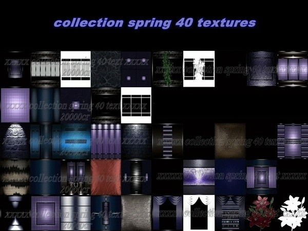 Collection spring 40 textures