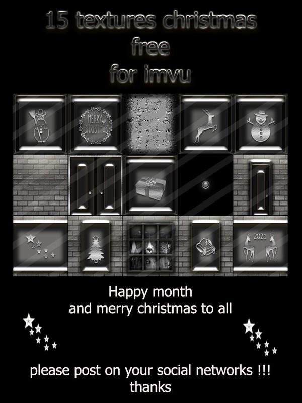 15 textures christmas free for imvu
