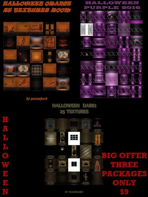 THREE PACKAGES HALLOWEEN TEXTURES