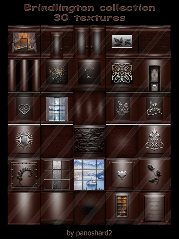 Brindlington collection 30 textures for the construction of imvu rooms