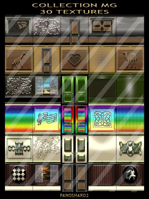 COLLECTION MG 30 TEXTURES FOR IMVU ROOMS