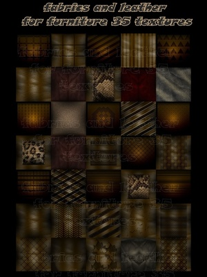Fabrics and leather for furniture 35 textures