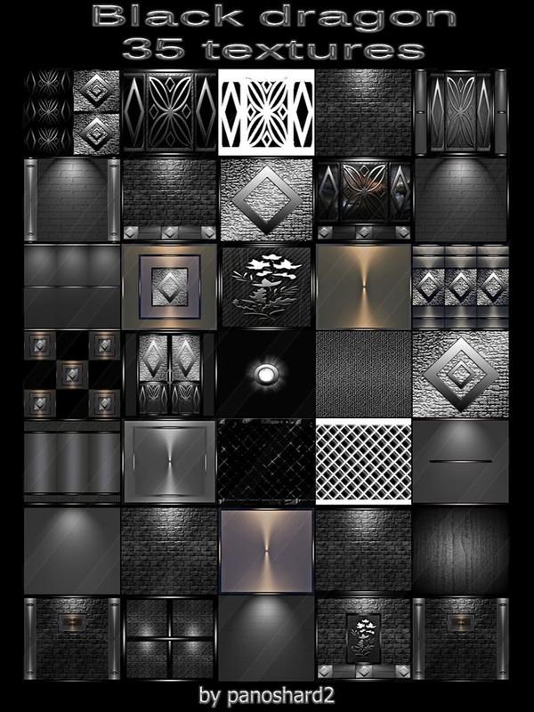 Black dragon 35 textures for imvu rooms