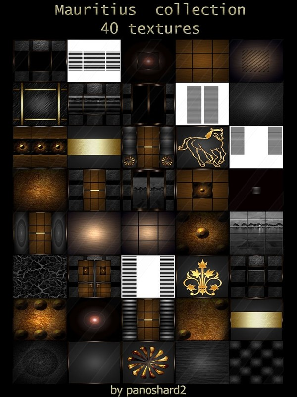 Mauritius  collection 40 textures for imvu  room s