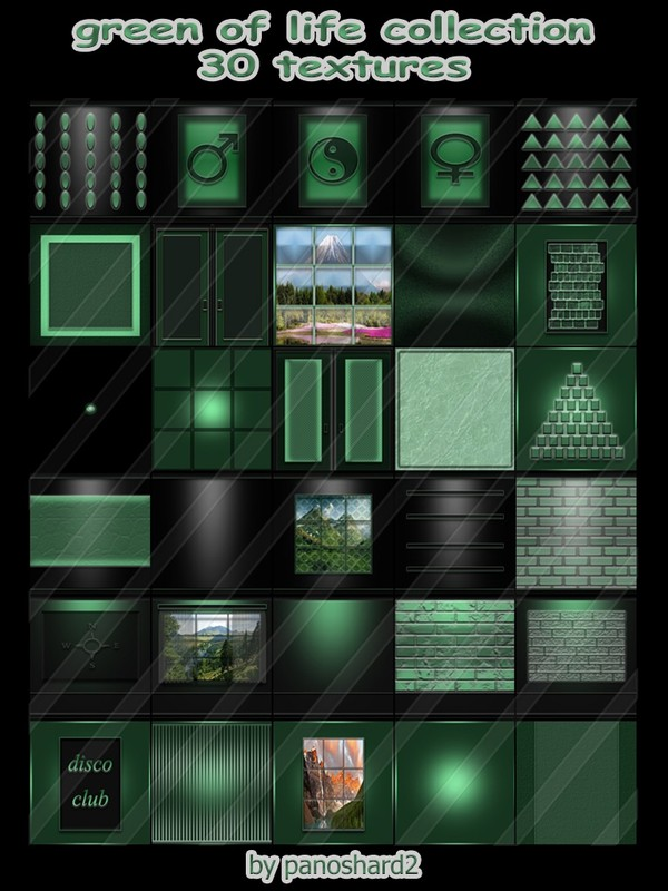 Green of life collection 30 textures for imvu rooms