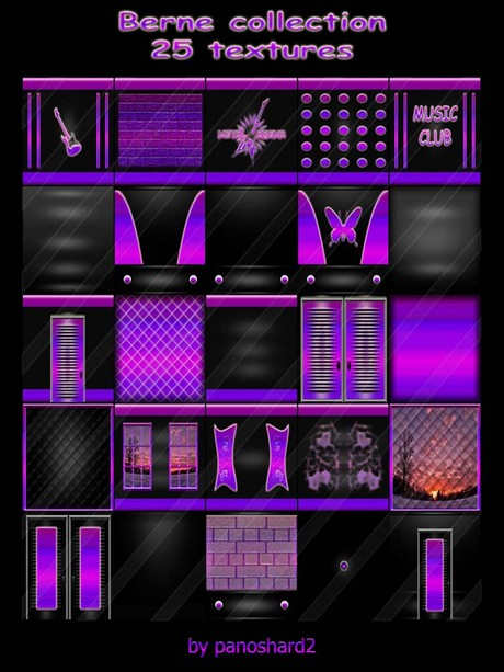 Berne collection 25 textures  for imvu creator rooms ( will be sold to ten creator)
