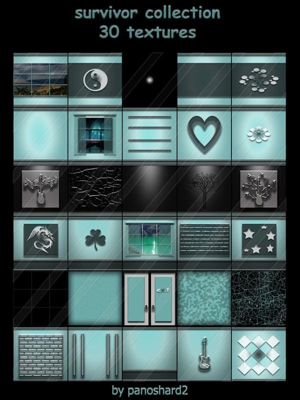 survivor collection 30 textures for imvu rooms