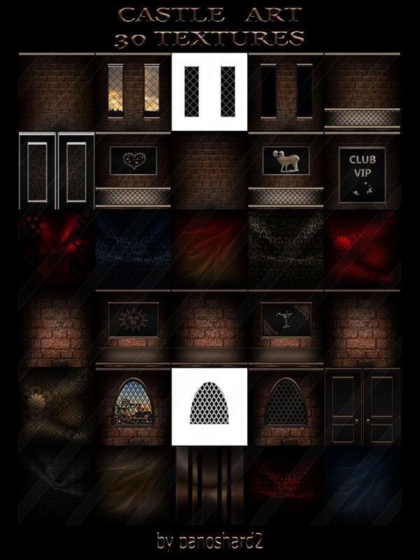 Castle art 30 textures for imvu rooms