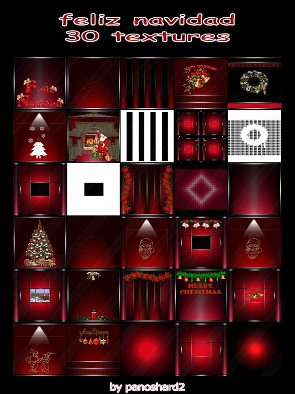 feliz navidad 30 textures for christmas rooms