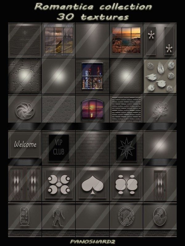 Romantica collection 30 textures for imvu rooms