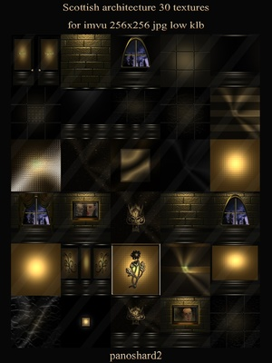 Scottish architecture 30 textures for imvu 256x256 jpg low klb