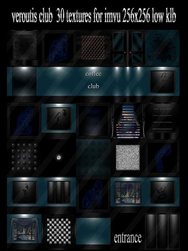 Veroutis club 30 textures for imvu 256x256 low klb