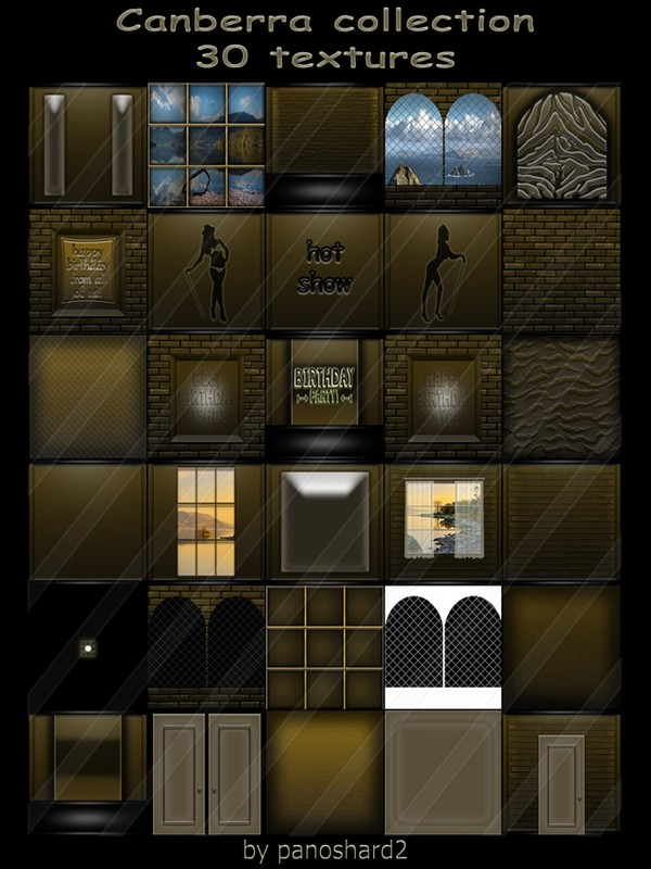 Canberra collection 30 textures for imvu creator rooms ( will be sold to ten creator)