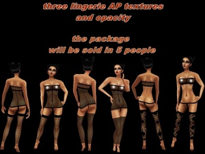 ☺☺☺ DISCOUNT three packs lingerie textures ap ☺☺☺