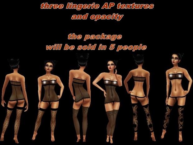 ☺☺☺ DISCOUNT three packs lingerie textures ap ☺☺☺