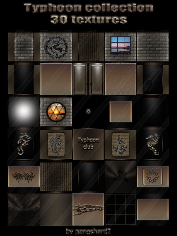 Typhoon collection 30 textures for imvu creator rooms  (will be sold to ten creators)