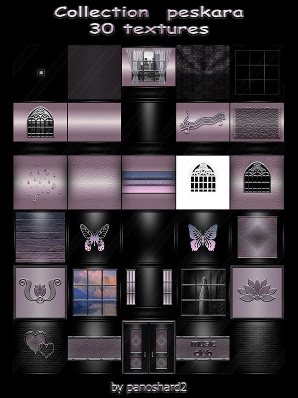 Collection  peskara 30 textures for imvu creator rooms  (will be sold to ten creators)
