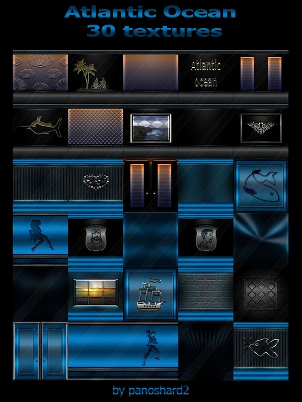 Atlantic Ocean 30 textures for imvu rooms