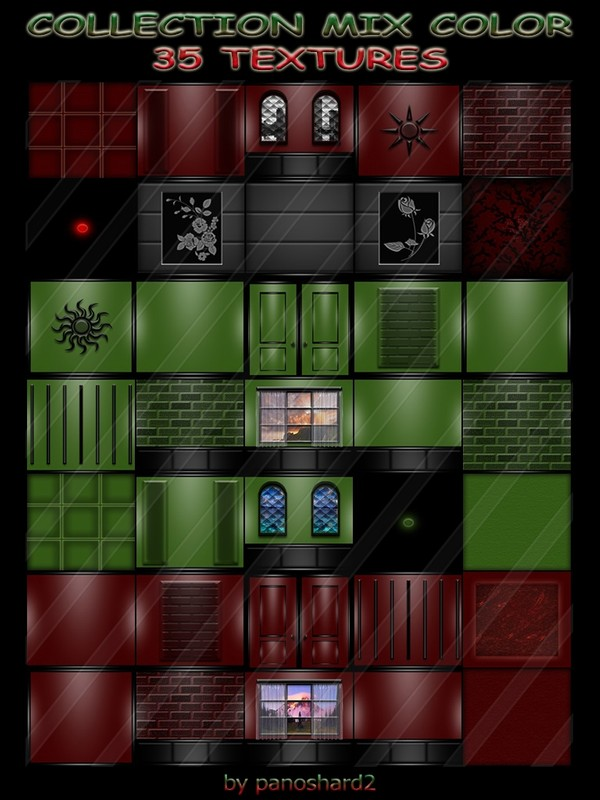 COLLECTION MIX COLOR 35 TEXTURES  FOR IMVU CREATOR ROOMS