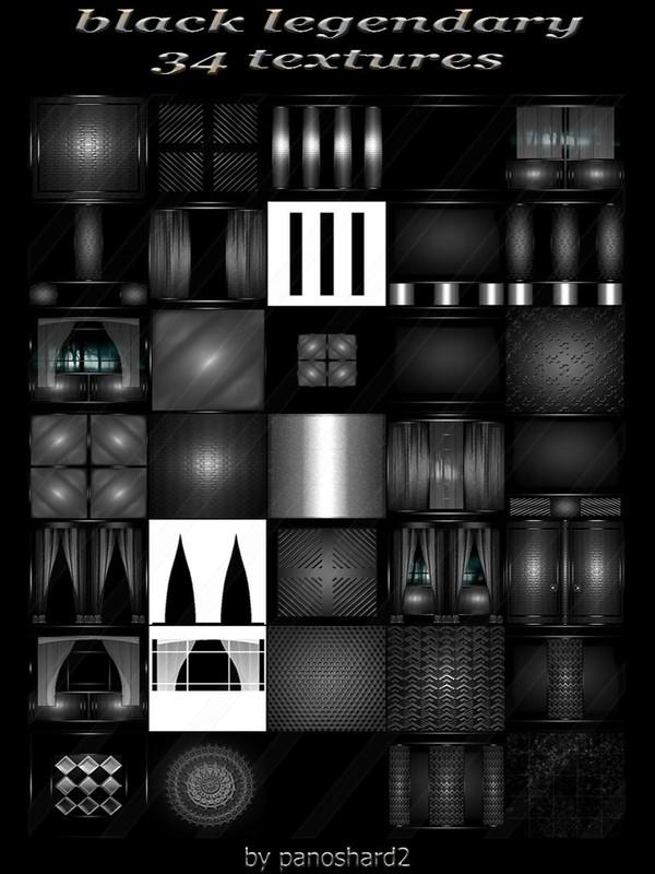 black legendary 34 textures for imvu rooms