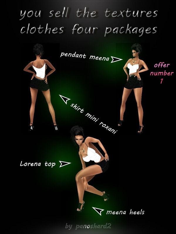 offer number1 (meena heels) (lorena top) (pendant meena) (skirt mini roxani)