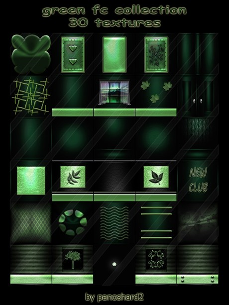 Green fc collection 30 textures for imvu creator rooms  ( will be sold to ten creator)