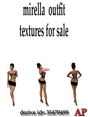 MIRELLA OUTFIT TEXTURES FOR IMVU