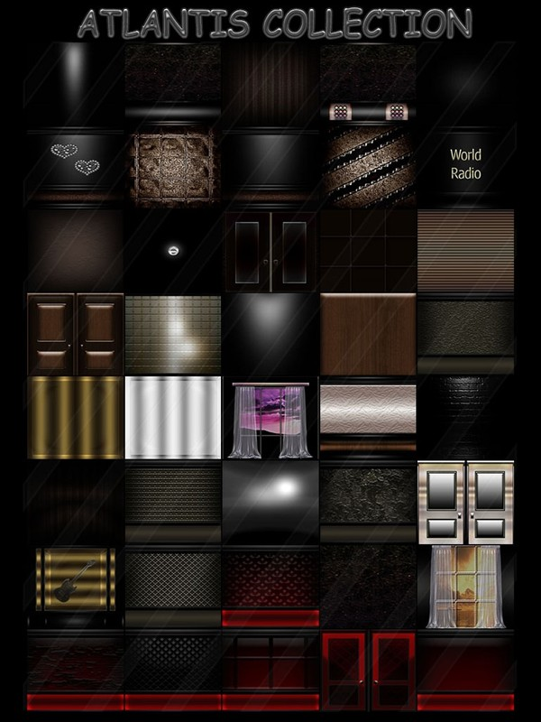 Atlantis collection 40 textures for imvu rooms