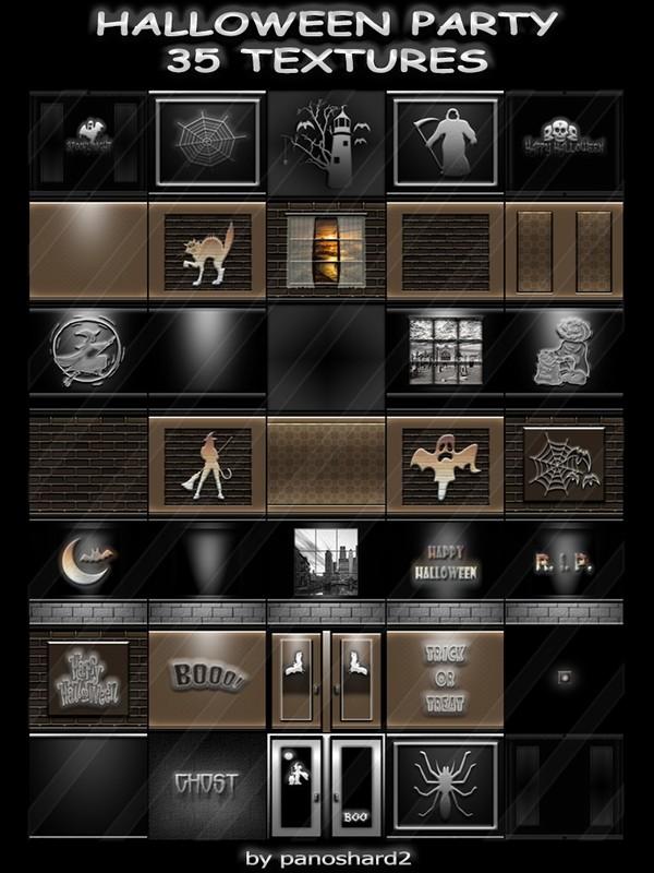 HALLOWEEN PARTY 35 TEXTURES FOR IMVU CREATOR ROOMS (will be sold to ten creators)