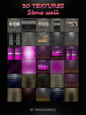 30 TEXTURES Stone wall IMVU ROOM NEW PACK