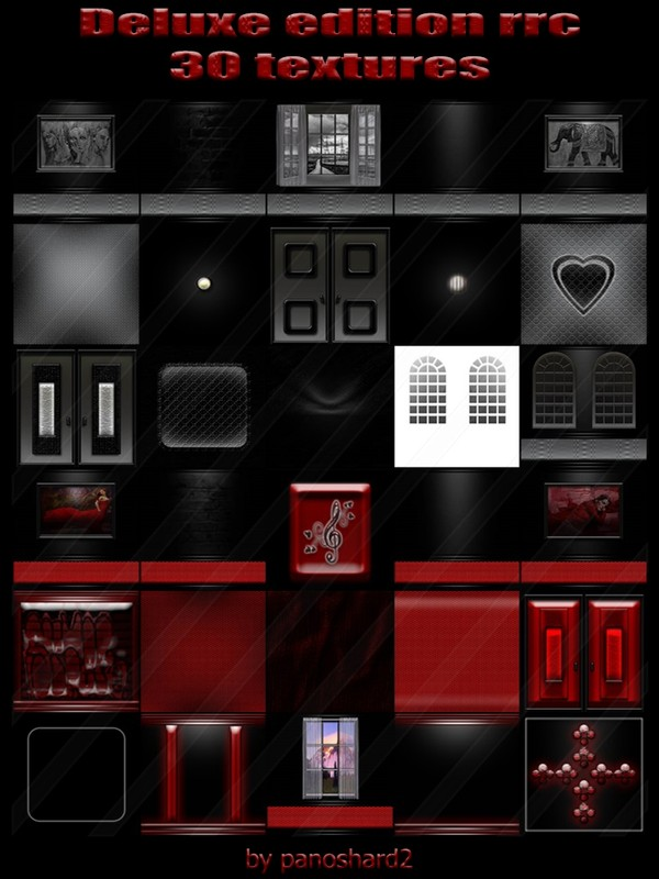 Deluxe edition rrc 30 textures for imvu creator rooms (will be sold to ten creators)