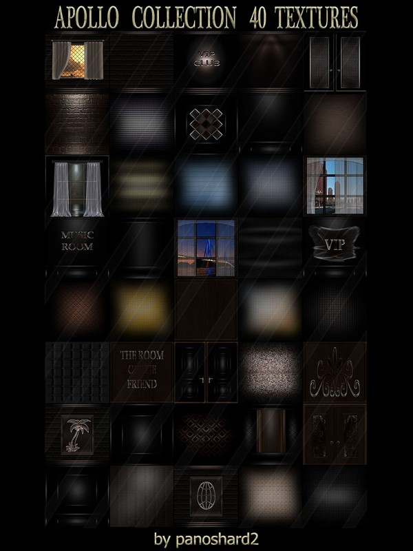 APOLLO COLLECTION 40 TEXTURES  FOR IMVU ROOMS