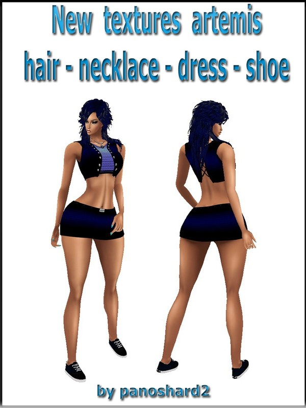 Set textures artemis dress - hair - necklace - shoes   will be sold to six creators
