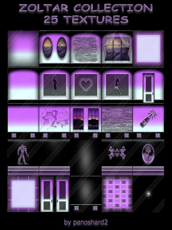 ZOLTAR COLLECTION 25 TEXTURES FOR IMVU ROOMS