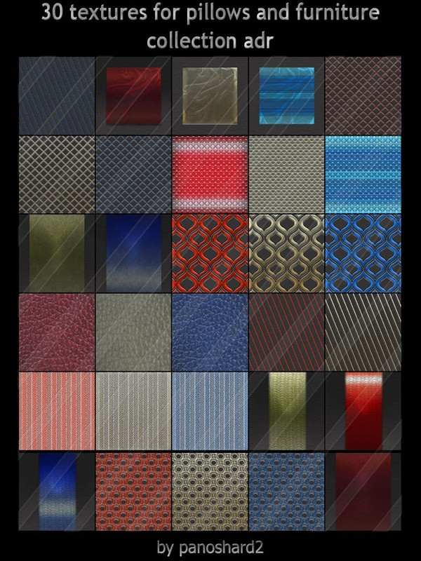 30 textures for pillows and furniture collection adr