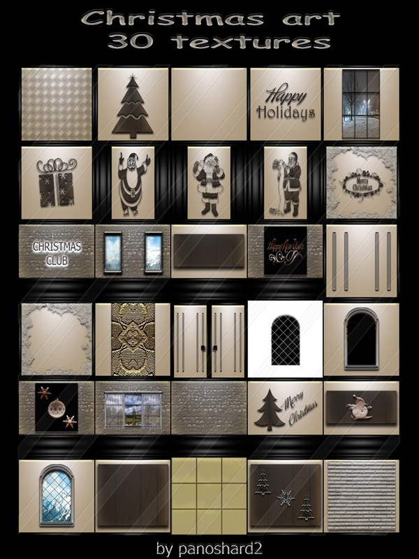 Christmas art 30 textures for imvu creator  rooms ( will be sold to ten creator)