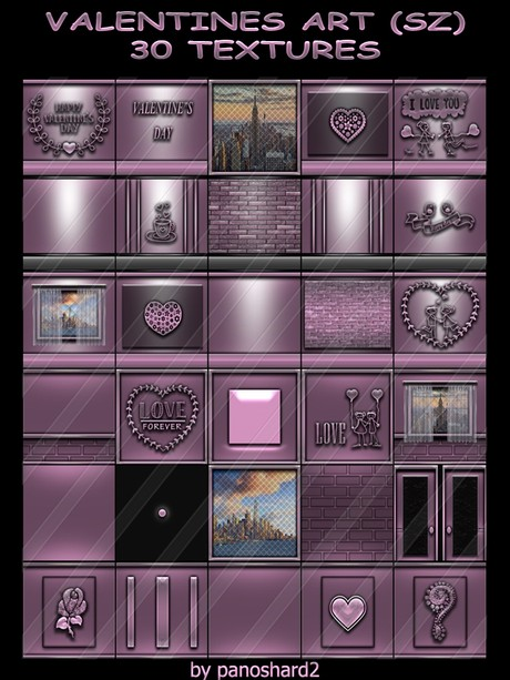 VALENTINES ART (SZ) 30 TEXTURES FOR  IMVU ROOM CONSTRUCTION ( will be sold to ten creator)