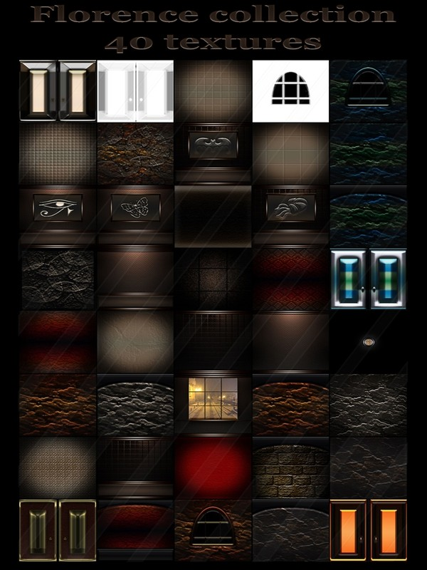 Florence  collection  40 textures for imvu rooms