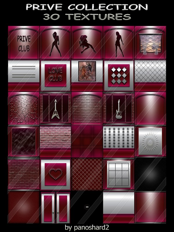 PRIVE COLLECTION 3O TEXTURES FOR IMVU CREATOR ROOMS ( will be sold to ten creator)