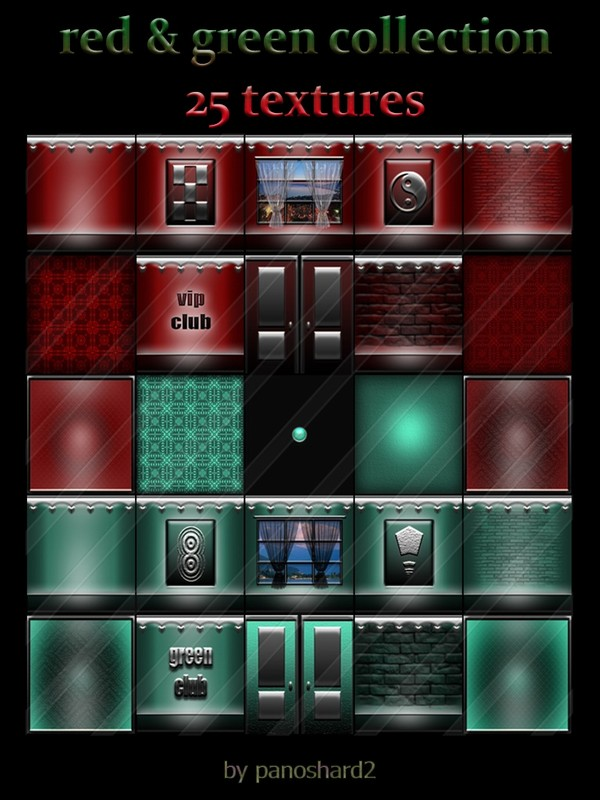 Red & green collection 25 textures for imvu creator rooms ( will be sold to ten creator )