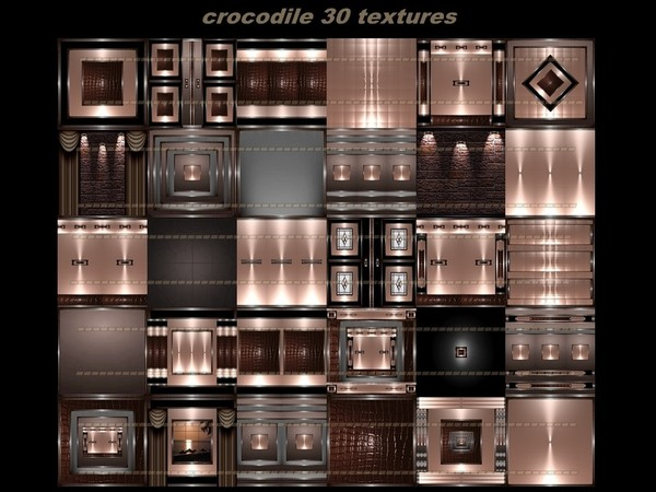 crocodile 30 textures FOR IMVU CREATOR ROOMS
