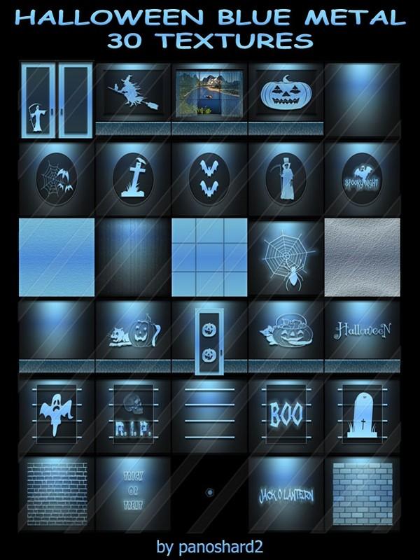 HALLOWEEN BLUE METAL 30 TEXTURES FOR ROOMS